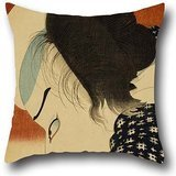 (Oil Painting Utagawa Yoshitora - Actor With Sword Cushion Covers ,best For Lounge,teens Boys,teens,birthday,monther,bench 16 X 16 Inches / 40 By 40 Cm(double Sides))