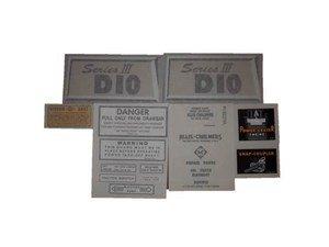 AC D10 1963-1968 (SERIES III W/ CHROME NAMEPLATE): VINYL CUT DECAL SET - DJS166 ()