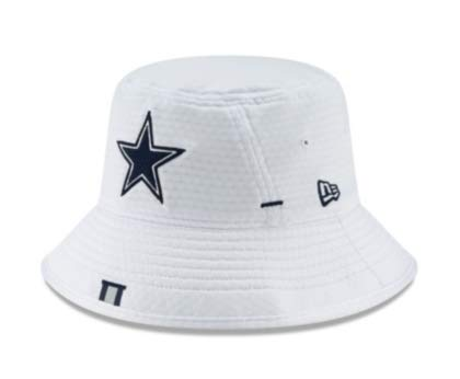 Dallas Cowboys New Era Mens White Training Bucket Hat -