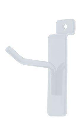 2'' Slatwall Hooks for Slat Panel Display - 50 Pcs Box - 1/4'' Dia Wire - Heavy Duty - White Color