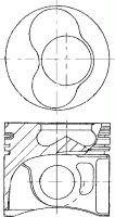 Nü ral 87-114900-65 Piston AutoMotion Factors Limited
