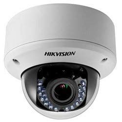 - HIKVISION DS-2CE56D5T-AVPIR3ZH Analog Camera, IR Dome, Vandal-Proof, NTSC/PAL, Day/Night, 1920 x 1080 Resolution, F1.4 Motorized Varifocal 2.8 to 12 MM Lens, RJ45 Connection