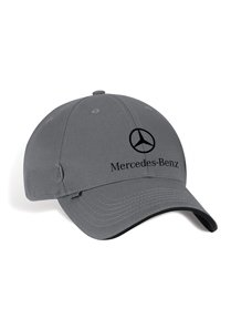 Genuine mercedes benz grey twill baseball cap hat apparel for Mercedes benz hat amazon