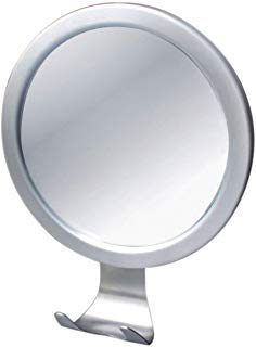 Ettori Fog-Free Shower Mirror Bathroom Fogless Shaving Bathtub Power Lock Suction (Shower Mirror)
