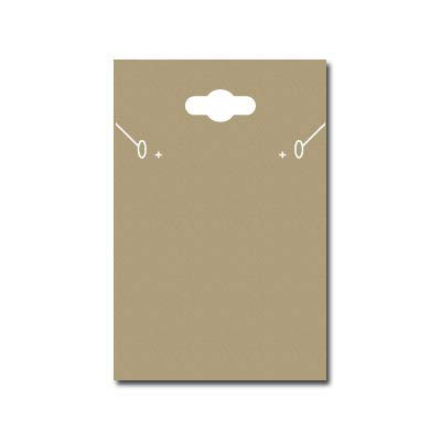 100 Set Earring Display Card Earring Card Necklace Card Holder Custom Printed Kraft Paper Tags for DIY Ear Studs and Earrings 2