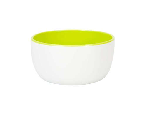 (Zak Designs 14-Ounce Ice Cream Bowl, White and Kiwi Green )