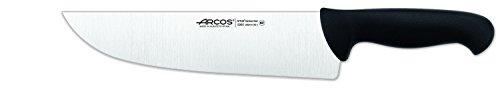 Arcos 10-Inch 250 mm 2900 Range Wide Blade Butcher Knife, Black
