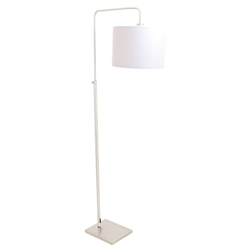 WOYBR LS-L-APLOFL GY Brushed Nickel, Fabric Shade, Apollo Floor (Lumisource Contemporary Floor Lamp)
