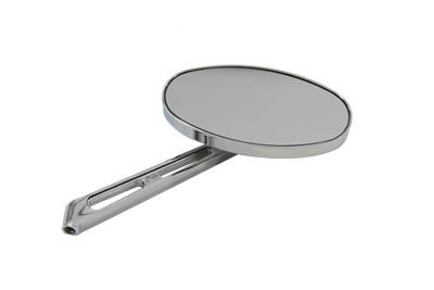 (V-Twin 34-2023 - Flat Oval Mirror with Billet Stem )