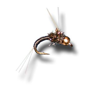 Tungsten BH WD40 Black Fly Fishing Fly Size 22-3 Pack