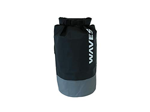 (Waves Gear Waterproof Dry Bag with Adjustable Shoulder Strap and Side Handle)