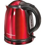 hamilton beach 1l kettle - Hamilton Beach 40997 Cordless Electric Kettle, Red