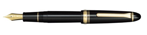 Sailor 1911 Large Black Gold Trim 21K Gold Medium Point Fountain Pen - (Trim Large Fountain Pen)