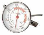 Taylor Classic Candy/Deep- Fry Thermometer 100 To 400 Deg F 2-1/4'' Dia.