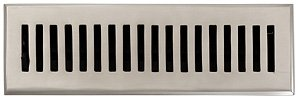Register 10 Contemporary Floor (2 1/4 X 10 Brushed Nickel Contemporary Floor Register (Vent Cover Grille) Made of Solid Brass)