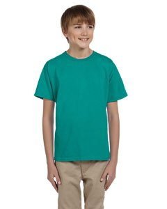 Gildan boys Ultra Cotton T-Shirt(G200B)-JADE DOME-L