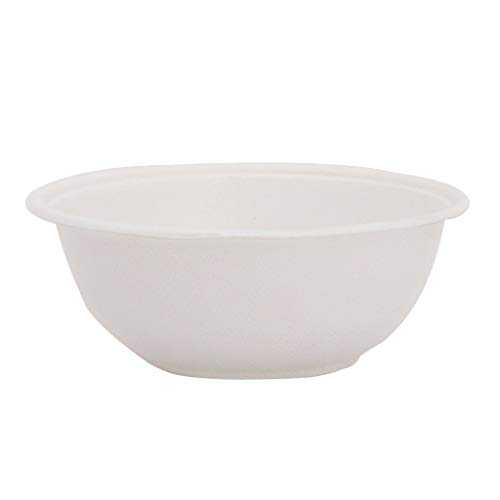 ECOWARE: 100% Biodegradable, Compostable, Ecofriendly, Disposable Round Bowl/Dona 240 ml (Pack of 50 Bowls)