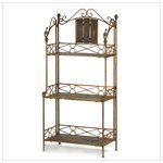 Zingz and Thingz Rustic Bakers Rack Shelf