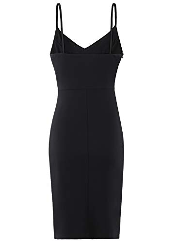 d7a2af33664 ... Zalalus Women's Bodycon Cocktail Party Dresses Deep V Neck Backless  Spaghetti Straps Sexy Summer Short Casual ...