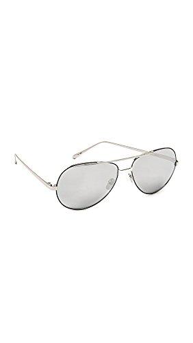 3547eb1ef19f Linda Farrow Luxe Women s Mirrored Aviator Sunglasses