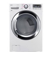LG DLGX3371W 7.4 Cu. Ft. Waxen Stackable With Steam Cycle Gas Dryer - Energy Star