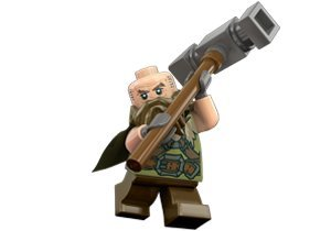 Lego Hobbit Dwalin the Dwarf Minifigure