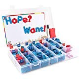 HopeWant 208Pcs Magnetic Foam Letters Kit Classroom Alphabets Set with Magnet Board for Kids Spelling and Learning