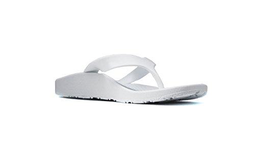Archline Orthèse Plantaire Fasciite Soulagement Flip Flops Blanc / Blanc