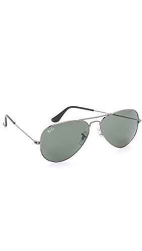 Ray-Ban Classic Aviator Sunglasses, Gunmetal/Green Classic by Ray-Ban (Image #1)