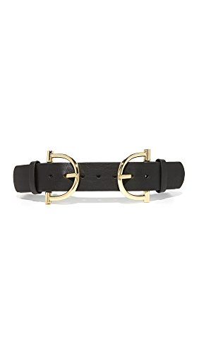 B-Low The Belt Women's Blake Double Belt, Black/Gold, Small by B-Low the Belt
