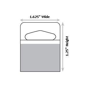 1-1/4 X 1-5/8 Slot Holed Adhesive Hang Tabs 1000/Pack Made in America
