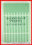 In Defense of Property, Dietze, Gottfried, 0801813263
