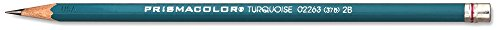 Prismacolor Turquoise Drawing Pencil, 2B, 1.98 mm, 12 Count