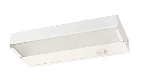 (NICOR Lighting 8-Inch Low-Profile Dimmable Xenon Under Cabinet Light Fixture, White (10350WH))