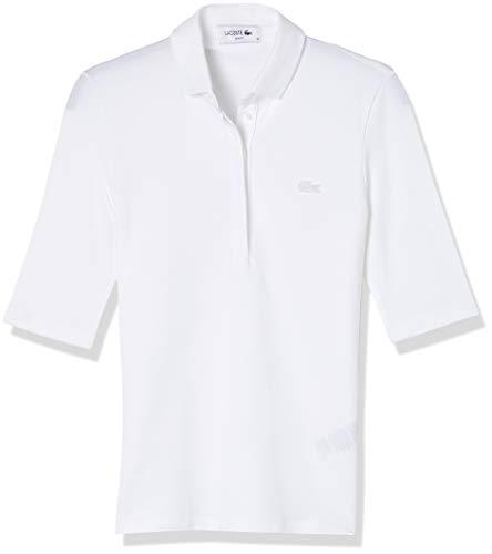 Polo básica feminina manga 3/4 slim fit, Branco, XXG