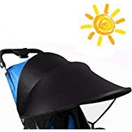 Universal Stroller Sun Shade Cover, Large Shade Maker Sun Shade Canopy UV Protection Rays Cover,Anti-UV Windproof Awning Sunshade for Stroller Pram Buggy Pushchair