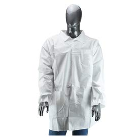 Radnor 3X White Polypropylene Disposable Lab Coat - 30/Case