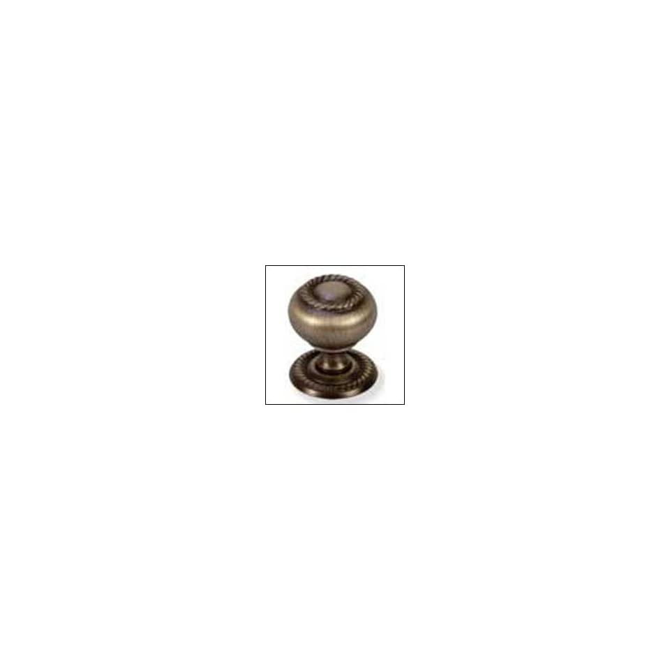 Hollow Brass Rope Cabinet Knob with Backplate. Packa