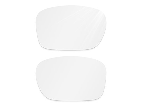 Glintbay Harden Coated Replacement Lenses for Oakley Holbrook Sunglasses - Multiple Colors (Crystal Clear Non-polarized, - White Sunglasses Small Off