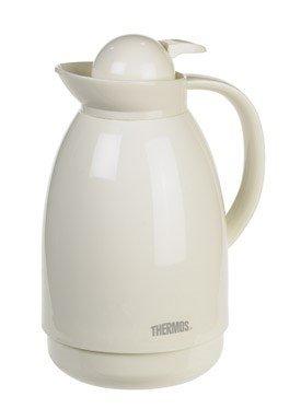 THERMOS 710TRI4 34 oz White Glass Carafe