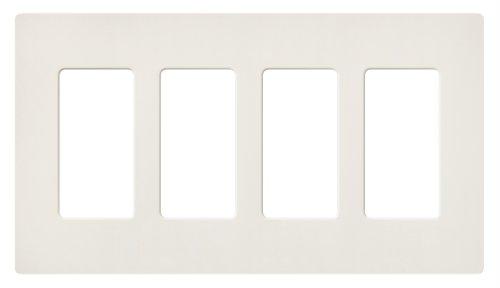 Lutron SC-4-BI Satin Colors 4-Gang Wallplate, Biscuit
