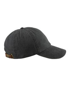 - Adams 6-Panel Low-Profile Washed Pigment-Dyed Cap, Black