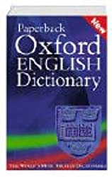 Paperback Oxford English Dictionary.