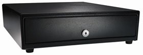 APG VB320-BL1616 Standard-Duty Cash Drawer, Vasario Series, Multipro 24V, Fixed 5'' x 5'' Till, 16'' x 16'' Size, Black by APG