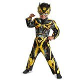 Bee Costumes Boy (Disguise Hasbro Transformers Age of Extinction Movie Bumblebee Toddler Muscle Costume, Medium/3T-4T)