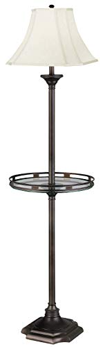 Kenroy Home 33052BBZ Wentworth Floor Lamp, Burnished Bronze (Table Tray Floor Lamp)