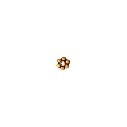 - TierraCast Daisy Heishi, 3mm, Antique 22K Gold Plated Pewter, 25 piece-Pack