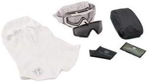 リビジョンSnowhawk米国陸軍GoggleシステムW/クリアと煙レンズ、ホワイトフレーム、4 – 0100 – 0001