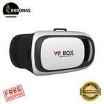 KKRONAS Combo of S460 Wireless Bluetooth Headphone Over The Head 2.1 Stereo Foldable Headphones Headset With Mic, Inbuilt SD Card and FM Radio With VR BOX 2.0 Virtual Reality Glasses, VR BOX, 2017 3D VR Headset for SmartPhones - Apple iPhone 5S, SE, 6, 6S, 7, 7 Plus, Samsung Galaxy, OnePlus, Redmi, Moto, LG, Sony, Coolpad, HTC, etc