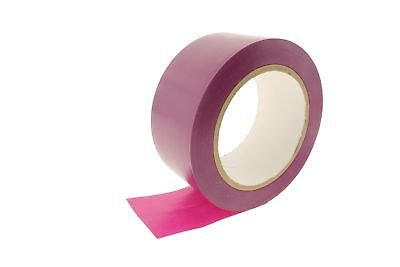 2pk 2'' Fuschia Purple Durable Rubber Adhesive PVC Vinyl Sealing Coding Warning OSHA Caution Marking Safety Electrical Removable Floor Tape (1.88IN 48MM) 36 yard 7 mil